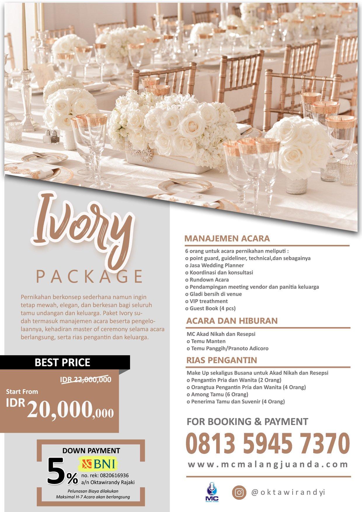 Price List Wedding Organizer Surabaya