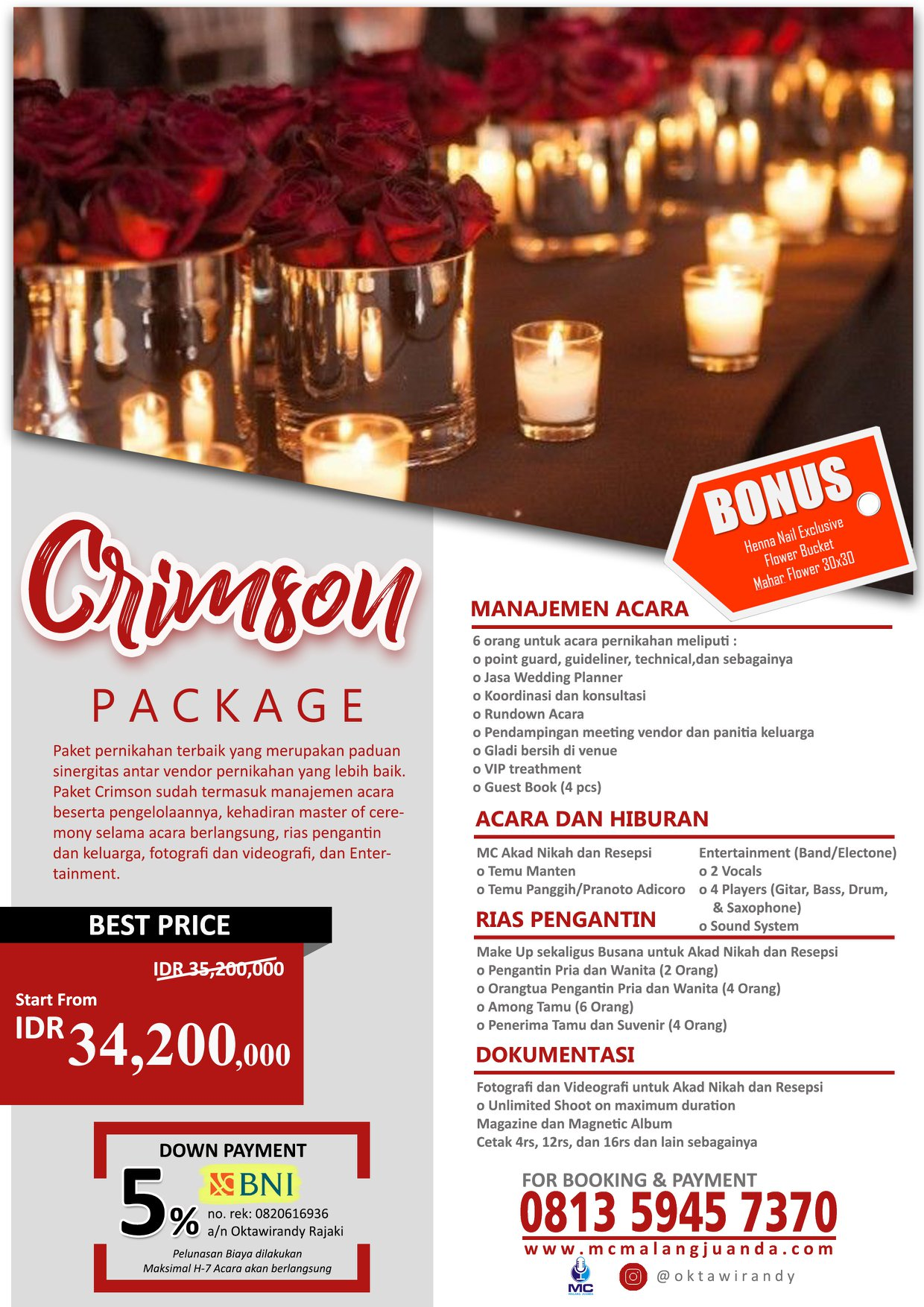 Harga Paket Wedding Organizer di Malang